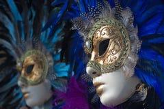 Karnevalsschablonen in Venedig Lizenzfreie Stockfotos