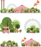 Karnevalstaden parkerar Royaltyfri Foto