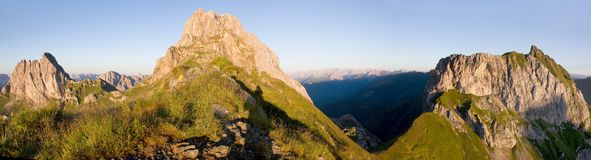 Karnische Alpen lub Alpi Carniche Zdjęcie Royalty Free