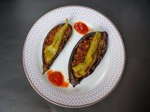 Karniyarik, alimento turco Foto de Stock