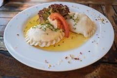 Karntner Kasnudeln o tagliatelle austriache del formaggio Immagini Stock Libere da Diritti