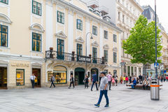 Karntnerstrasse shopping street in downtown Vienna, Austria Stock Image