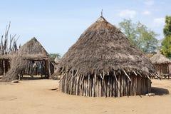 Karo, Ethiopia, Africa. Traditional houses of Karo people, Ethiopia, Africa Stock Images
