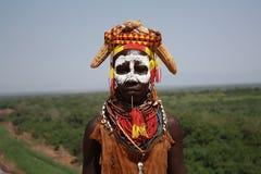 Karo tribe. In omo valley, ethiopia Royalty Free Stock Images