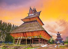 Karo tribe traditional house in North Sumatra
