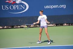 Karolína Plíšková. Tennis player Karolína Plíšková at the 2017 US Open tennis grand slam Royalty Free Stock Photography