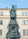 Karol Quarto statue in Prague Stock Photos