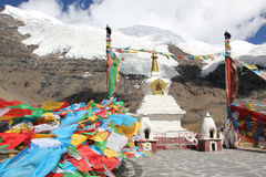 Karola glacier, Tibet Royalty Free Stock Photography