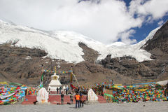 Karola glacier, Tibet Stock Photo