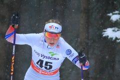 Karolina Grohova -越野滑雪 库存照片