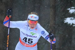 Karolina Grohova - cross country skiing Stock Photos
