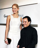 Karolina Kurkova and Azzedine Alaia Stock Photography