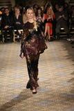 Karolina Kurkova walks the runway for the Christian Siriano collection Royalty Free Stock Photos