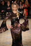 Karolina Kurkova walks the runway for the Christian Siriano collection Stock Photos
