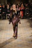 Karolina Kurkova walks the runway for the Christian Siriano collection Stock Images