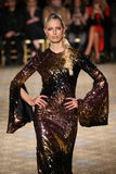 Karolina Kurkova walks the runway for the Christian Siriano collection Royalty Free Stock Images