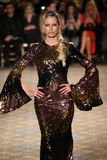 Karolina Kurkova walks the runway for the Christian Siriano collection Stock Photography