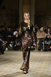 Karolina Kurkova walks the runway for the Christian Siriano collection Royalty Free Stock Images