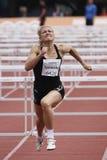Karolina Tyminska op heptathlon vergadering IAAF stock foto