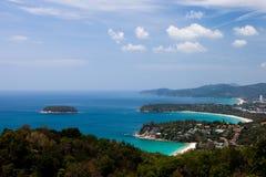 Karon海滩和Kata海滩,普吉岛,泰国 库存照片