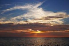 Karon海滩,普吉岛日落  库存照片