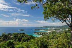 Karon观点,普吉岛,泰国 免版税库存照片