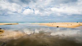 Karon beach with cloudy blue sky, Phuket, Thailand Royalty Free Stock Images