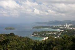Karon Beach and Ko Pu Island Royalty Free Stock Images