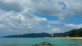 Karon beach. Landscape, Phuket, Thailand stock video