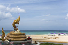 Karon Beach Naga Statue Landmark Phuket Thailand Stock Photography