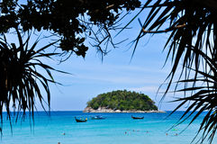 Karon Beach Phuket Thailand on April 2010. The beach of phuket thailand is buetifull and the most pupular world wide come to here for travel and relaxation for Stock Image