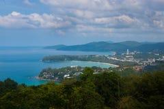 Karon punkt widzenia na wyspie Phuket, Tajlandia Zdjęcia Royalty Free