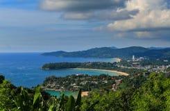 Karon siktspunkt berömda Phuket av Thailand arkivfoton