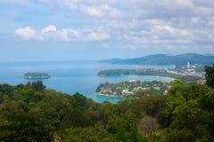 Karon Viewpoint on island of Phuket, Thailand Royalty Free Stock Image