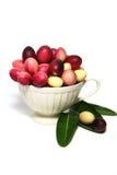 Karonda或Carunda FruitsCarissa carandas L 在空白背景 免版税图库摄影
