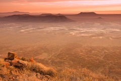 Karoo desert sunset Royalty Free Stock Photo