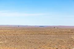 Karoo jest bardzo suchym rzadkim pustynią w najwięcej umieszcza ale ono foluje życie i historia afryce kanonkop słynnych góry do  obrazy stock