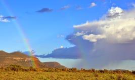 Karoo na regenonweer stock afbeeldingen
