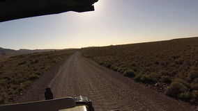 Karoo off road. First person view of a game drive on dirt off roads in the Karoo National Park, Western Cape province of South Africa stock footage