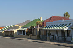 Karoo Town Street. Victorian cottages in a Karoo Town Stock Photos