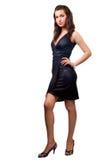 Karosserie der eleganten reizvollen Frau getrennt auf Weiß Stockfotos