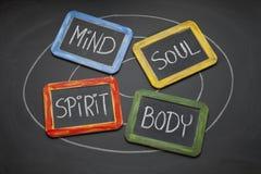 Karosserie, Verstand, Seele und Spirituskonzept lizenzfreies stockfoto