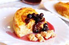 Karotte-Käse gebackener Pudding Stockfoto