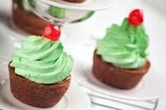 Karotte-kleine Kuchen Lizenzfreies Stockfoto