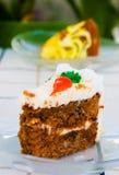 Karotte-Kuchen Lizenzfreie Stockbilder