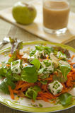 Karotte-Salat mit Feta-Käse lizenzfreies stockfoto