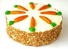 Karottekuchen getrennt stockbilder
