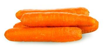 Karotten über weißem Hintergrund Stockfotos
