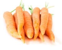 Karotten getrennt auf weißem Hintergrund Lizenzfreie Stockfotografie