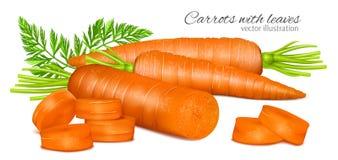 Karotten mit Blättern stock abbildung